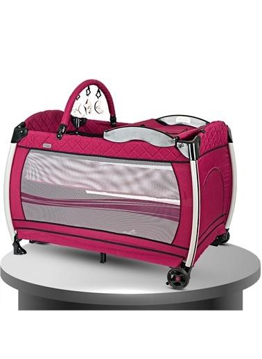 Baby Home Baby Home 600 Nanny 70x110 Bebek Oyun Parkı Yatak Beşik Bordo